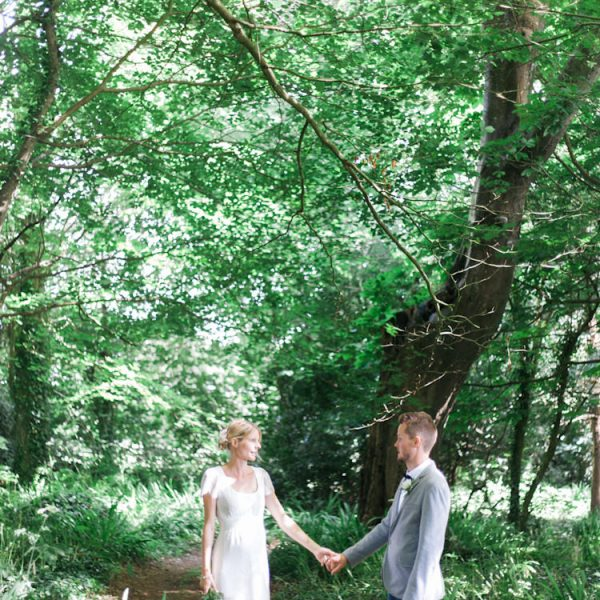 Romantic Humanist Forest Cornwall Pub Wedding