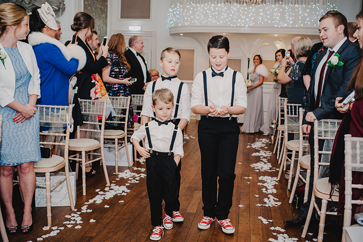 Page Boys Braces Converse Glamorous Gatsby 1920s Speakeasy Winter Wedding http://www.jmcsweeneyphotography.co.uk/