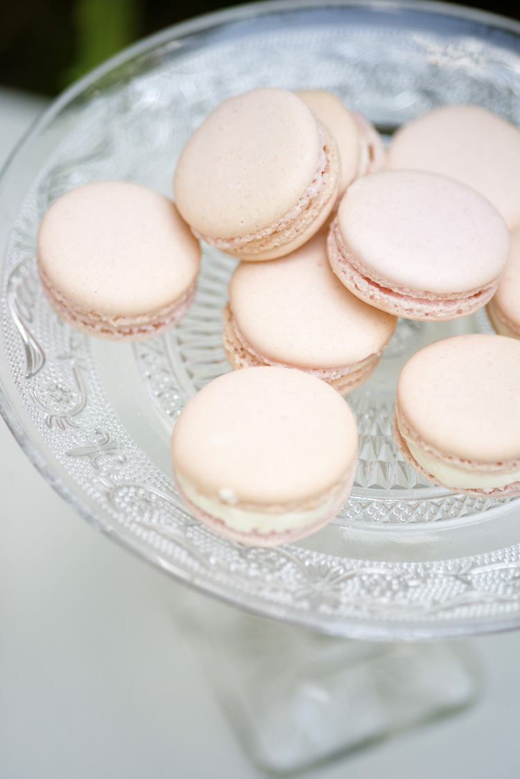 Macarons Quintessential English Elegant Soft Blush Blossom Wedding Ideas http://careysheffield.com/