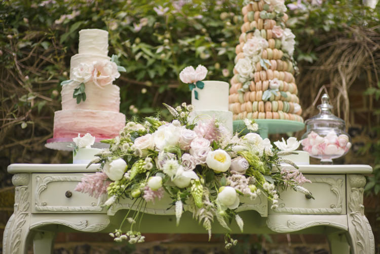 Cake Table Flowers Quintessential English Elegant Soft Blush Blossom Wedding Ideas http://careysheffield.com/