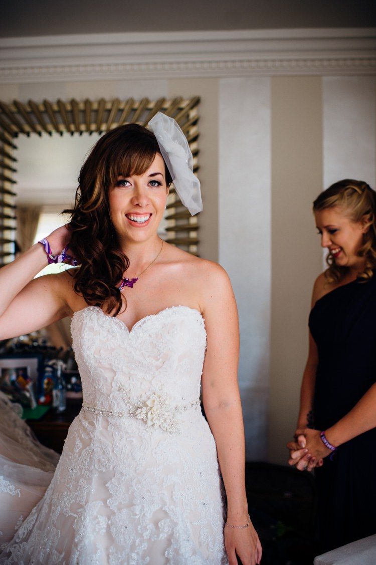 Strapless Lace Sweetheart Dress Bride Bridal Gown Garden Music Festival Double Decker Bus Marquee Wedding http://www.mariannechua.com/