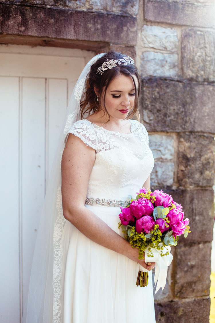 Lace Edge Veil Bride Bridal Quirky Colourful Pastel Country Fair Wedding http://www.cassandralane.co.uk/
