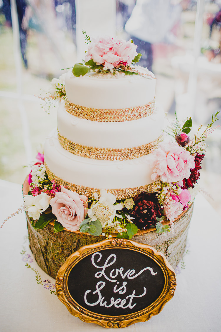 Rustic Dusky Pink Amp Gold Picnic Marquee Wedding