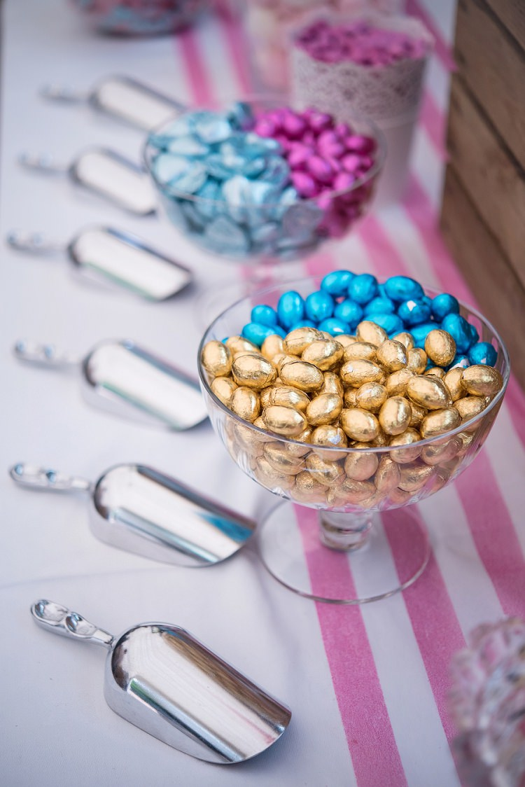 Sweets Sweetie Table Whimsical Boho Glamour Pink Blue Gold Wedding http://www.sarareeve.com/