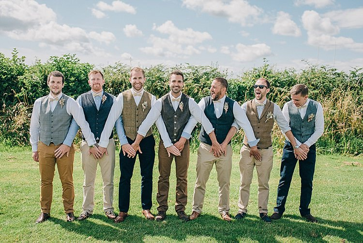 Waistcoat Jeans Bow Tie Groom Groomsmen Casual Summery Rustic Beach Wild Horses Wedding http://www.jasonmarkharris.com/