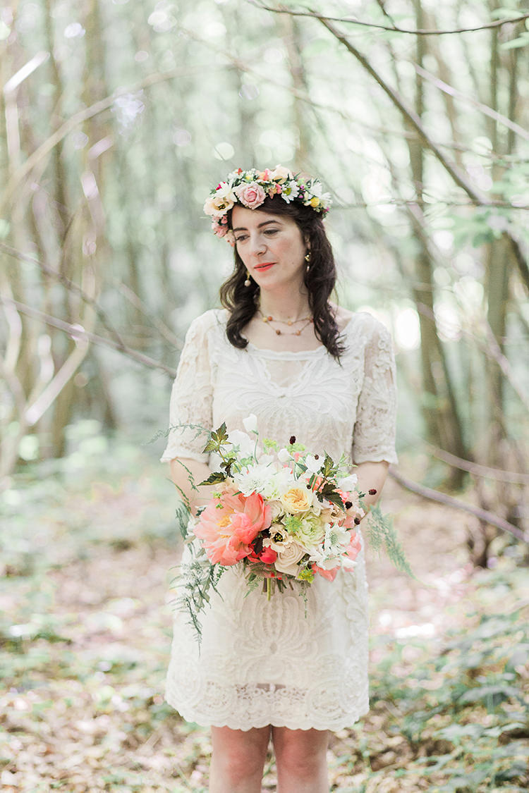 Short Gown Bride Bridal Vienna Dress by Yoana Baraschi at BHLDN Indie Hand Made Outdoor Woodland Wedding http://www.ilariapetrucci.co.uk/