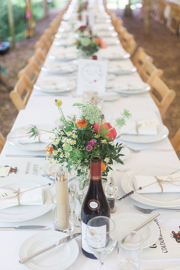 Long Tables Indie Hand Made Outdoor Woodland Wedding http://www.ilariapetrucci.co.uk/