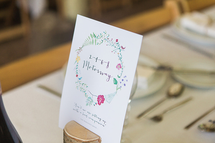 Places Table Names Indie Hand Made Outdoor Woodland Wedding http://www.ilariapetrucci.co.uk/
