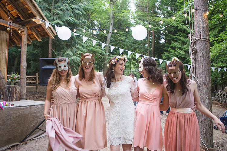 Animal Masks Indie Hand Made Outdoor Woodland Wedding http://www.ilariapetrucci.co.uk/
