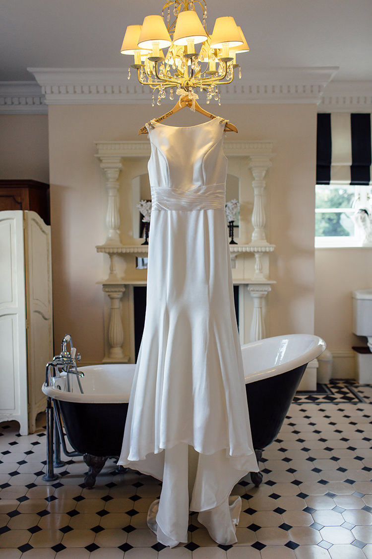 Justin Alexander Satin Dress Gown Bride Bridal Home Made Rustic Eclectic Wedding http://www.frecklephotography.co.uk/