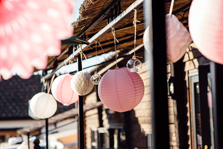 Pink White Lanterns Home Made Rustic Eclectic Wedding http://www.frecklephotography.co.uk/