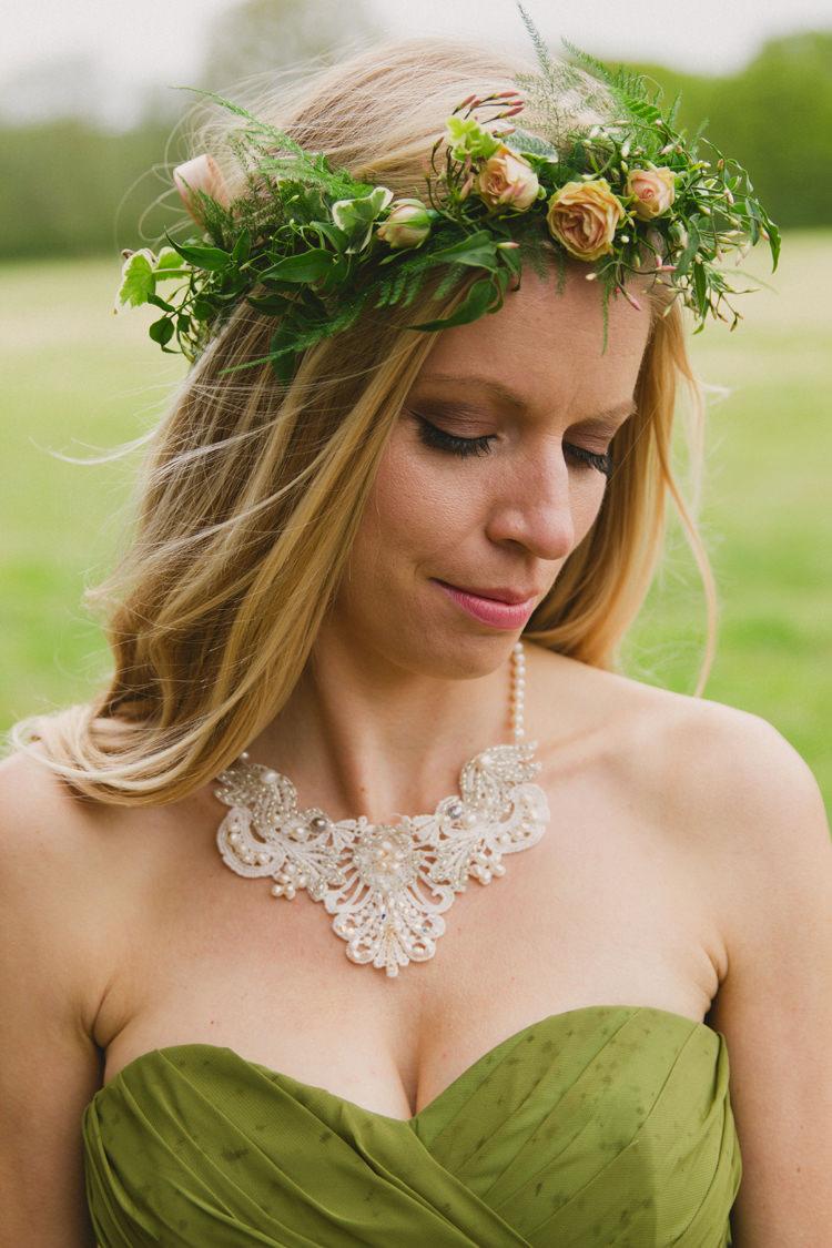Foliage Greenery Flower Crown Bride Bridal Industrial Eco Bloom Wedding Ideas http://www.mywildrose.co.uk/