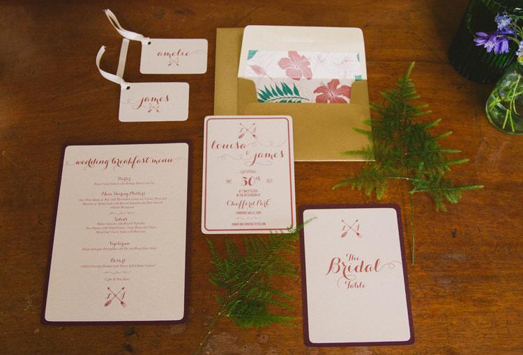 Arrow Calligraphy Stationery Invitations Industrial Eco Bloom Wedding Ideas http://www.mywildrose.co.uk/