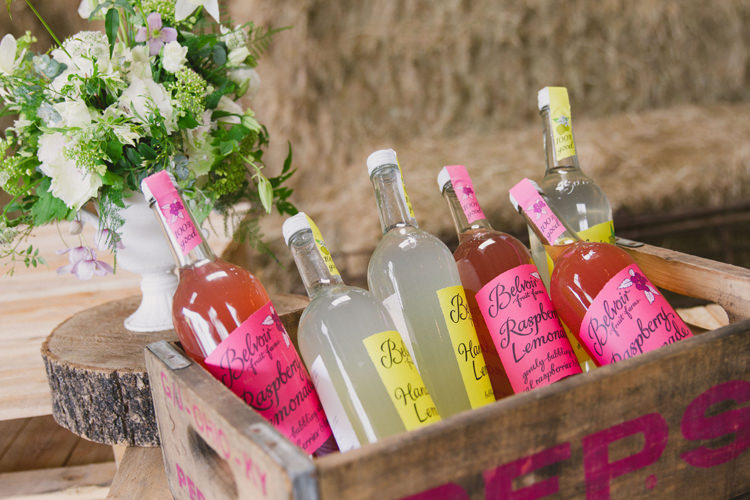 Lemonade Drinks Crate Industrial Eco Bloom Wedding Ideas http://www.mywildrose.co.uk/
