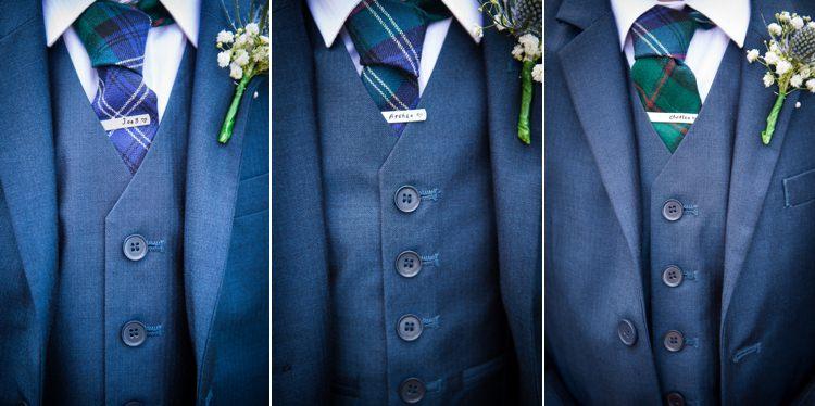 Pageboys Tartan Tie Pins Colourful DIY Village Fete Wedding http://jamesgristphotography.co.uk/blog/