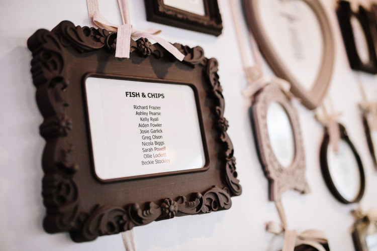 Frame Table Plan Seating Chart Chic Hollywood Glamour Wedding http://www.kategrayphotography.com/