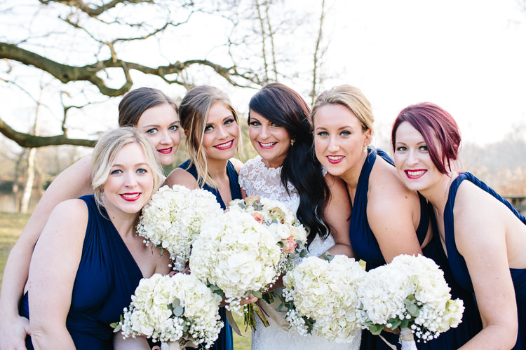 Hydrangea Bridesmaid Bouquets White Chic Hollywood Glamour Wedding http://www.kategrayphotography.com/