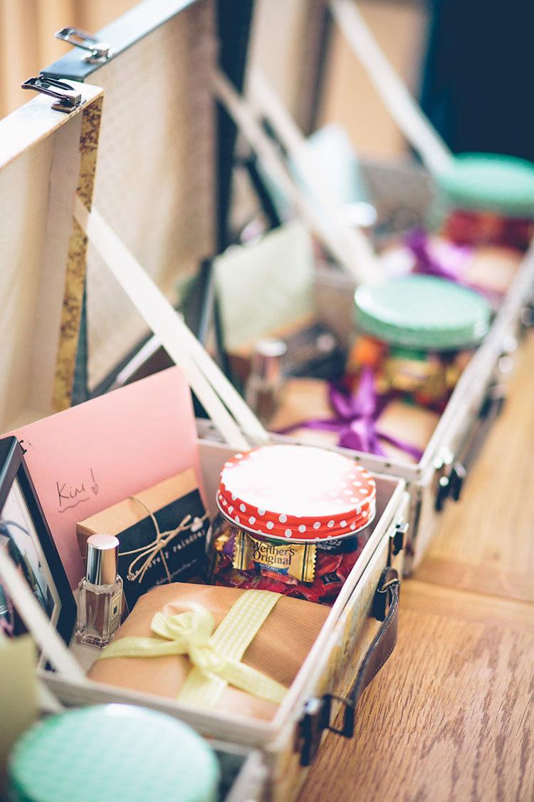Bridesmaids Gift Boxes Colourful Fun London Wedding http://storyandcolour.co.uk/