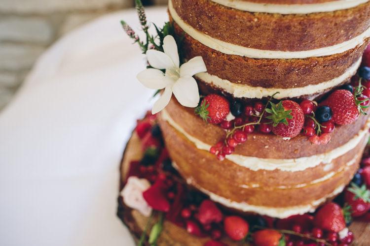 Naked Cake Layer Sponge Berries Fruit Great British Tea Party Wedding http://www.kategrayphotography.com/