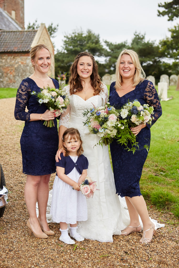 Navy Lace Bridesmaid Dresses Industrial Country Rustic Wedding https://www.fullerphotographyweddings.co.uk/