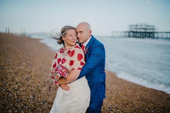 Intimate Red Seaside Brighton Wedding http://www.jmcsweeneyphotography.co.uk/