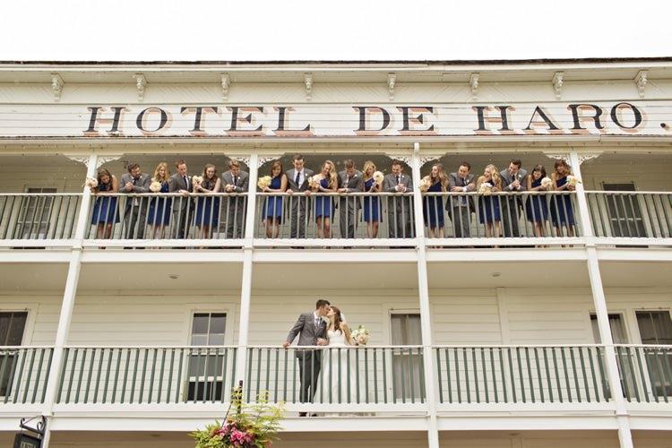 Bride Groom Bridal Party Navy Grey Roche Harbor Resort Elegant Classic Outdoor Wedding Washington http://www.courtneybowlden.com/