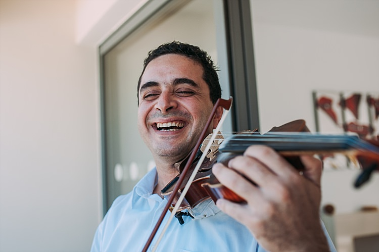 Live Music Violin Beautiful Traditional Greek Destination Wedding in Cyprus http://www.jonnybarratt.com/
