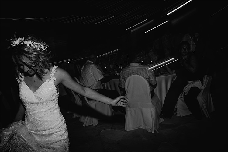 Bride Stella York Lace Gown Flower Crown Dance Beautiful Traditional Greek Destination Wedding in Cyprus http://www.jonnybarratt.com/