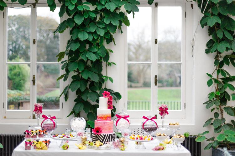 Dessert Table Colourful Monochrome Modern Fresh Watercolour Wedding Ideas http://www.beatriciphotography.co.uk/