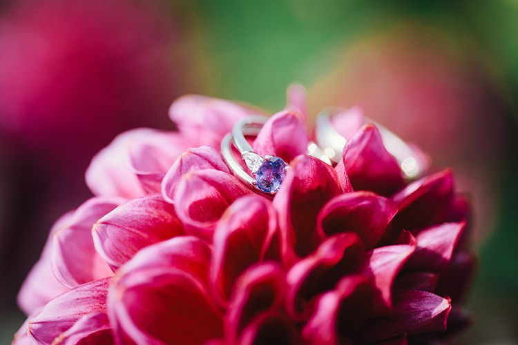Purple Engagement Ring Amethist Rustic Woodland Floral Wedding http://kellyjphotography.co.uk/