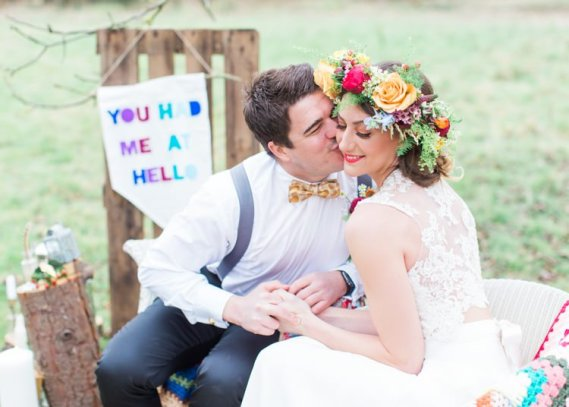 Colourful Festival Wedding Ideas http://www.sungblue.com/