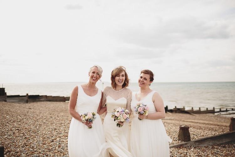 White Bridesmaid Dresses Coast Free Spirited Beautiful Beach Wedding https://www.paulfullerkentphotography.com/