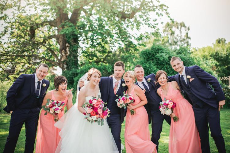 Romantic Coral Summer Wedding http://www.ljm-photography.co.uk/