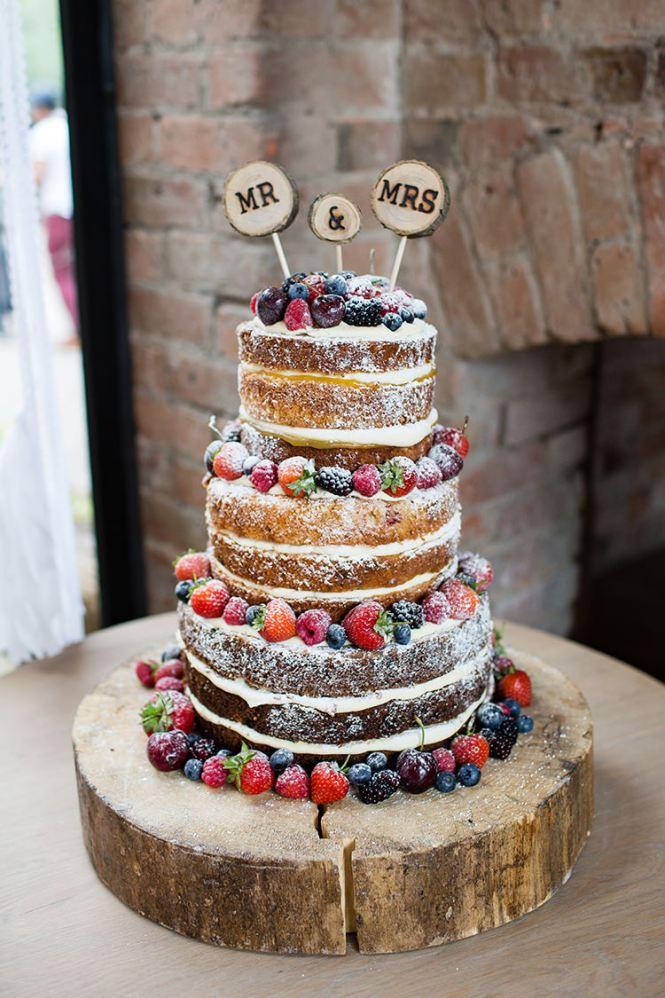 Wedding Cake Ideas Sponge Bare Layer Victoria Berries Inspiration Http Www