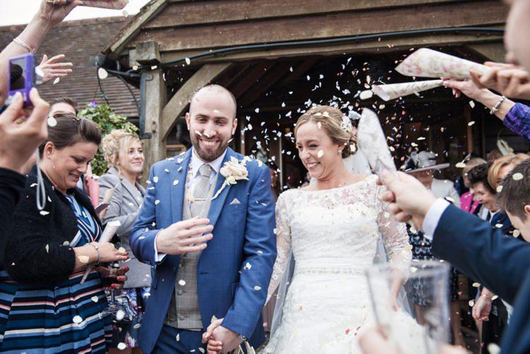 Confetti Throw Cosy Winter Barn Wedding http://kerryannduffy.com/