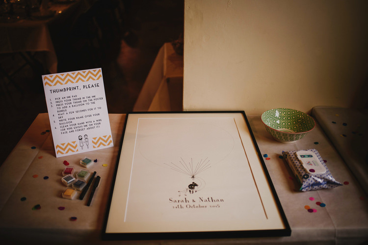 Finger Thumb Print Guest Book Art Creative Crafty Village Hall Wedding http://andygaines.com/