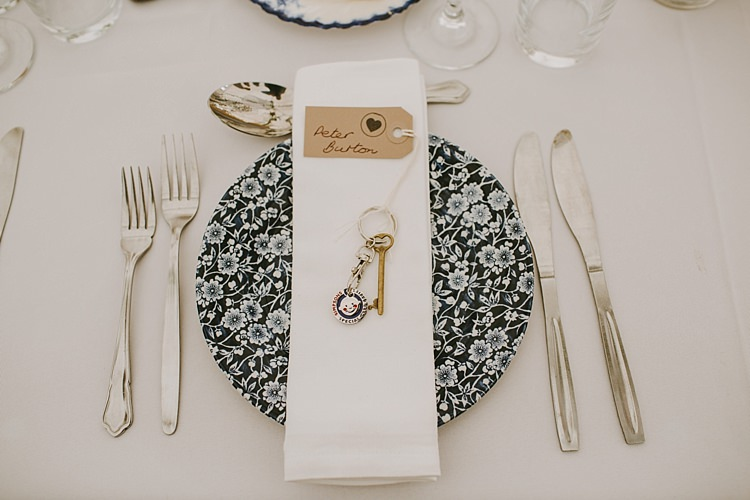 Key Place Setting Luggage Tag Beautiful Bohemian Beach Glamping Wedding http://www.thecurries.co/