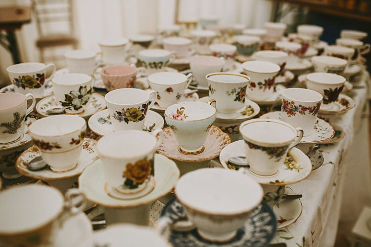 Tea Cups Beautiful Bohemian Beach Glamping Wedding http://www.thecurries.co/
