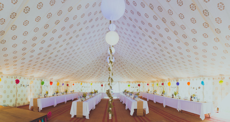 Bohemian Marquee Pattern Colourful Woodland Humanist Wedding http://sashaweddings.co.uk/