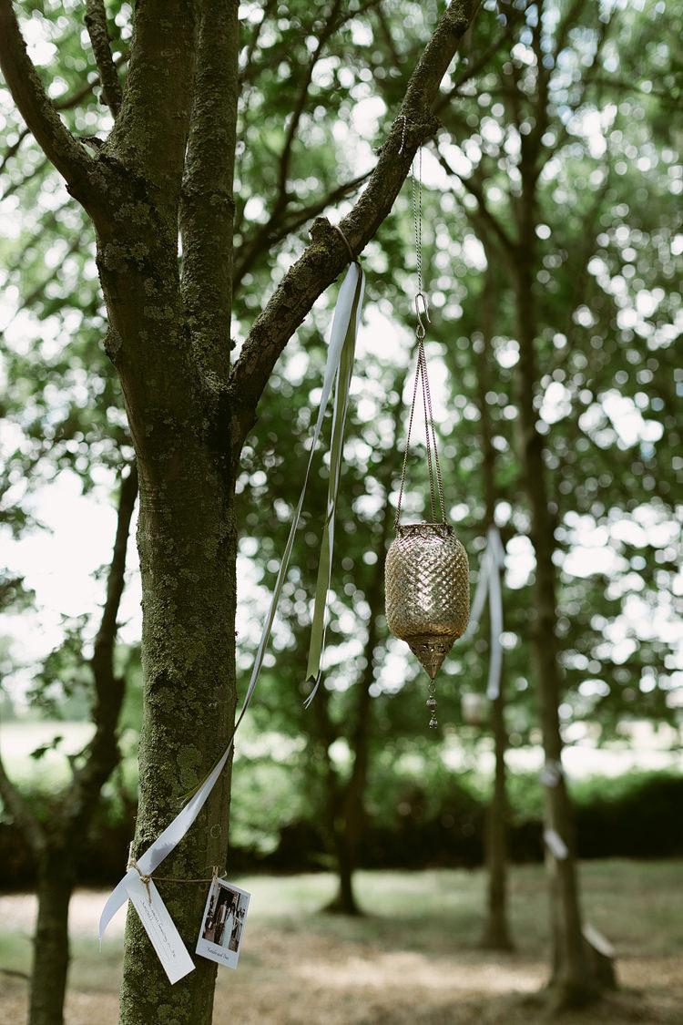 Hanging Lanterns Ribbons Decor Bohemian Outdoor Blessing Garden Wedding http://www.lukehayden.co.uk/