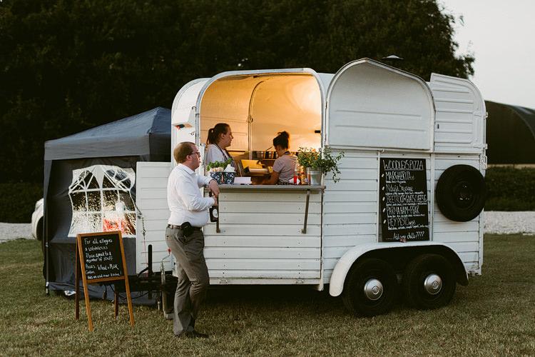 Pizza Van Truck Bohemian Outdoor Blessing Garden Wedding http://www.lukehayden.co.uk/