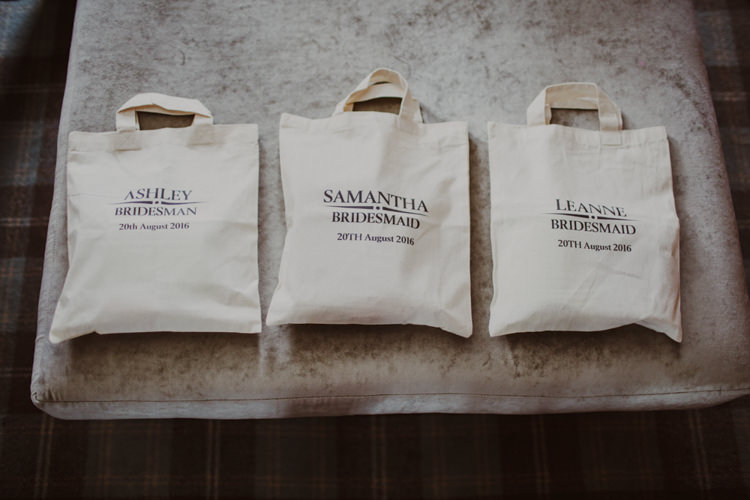 Bridesmaid Gift Bags Tote Romantic Stylish Relaxed Sea Wedding http://www.oxiphotography.co.uk/