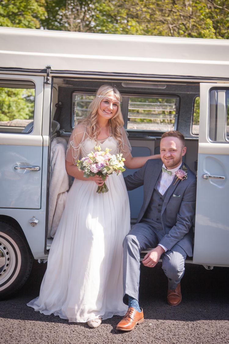 VW Camper Van Pastel Marquee Garden Party Wedding https://www.deliciousphotography.co.uk/