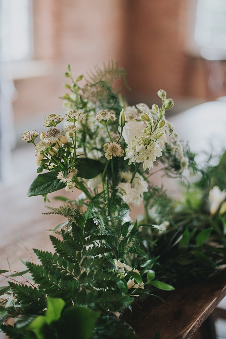 Foliage Flowers Table Decor Centrepiece Industrial Cool Mill Greenery Wedding http://www.beckyryanphotography.co.uk/