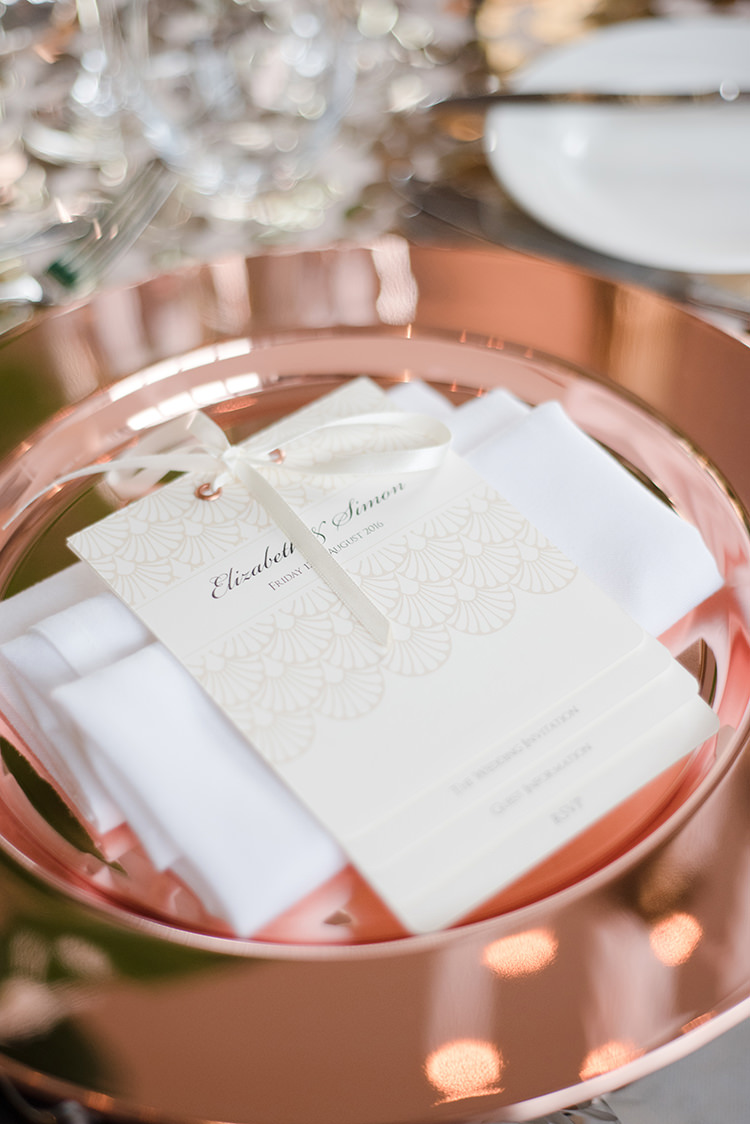 Copper Plate Place Setting Menu Stationery Greenery Fine Art Botanical Wedding Ideas http://georginaharrisonphotography.co.uk/
