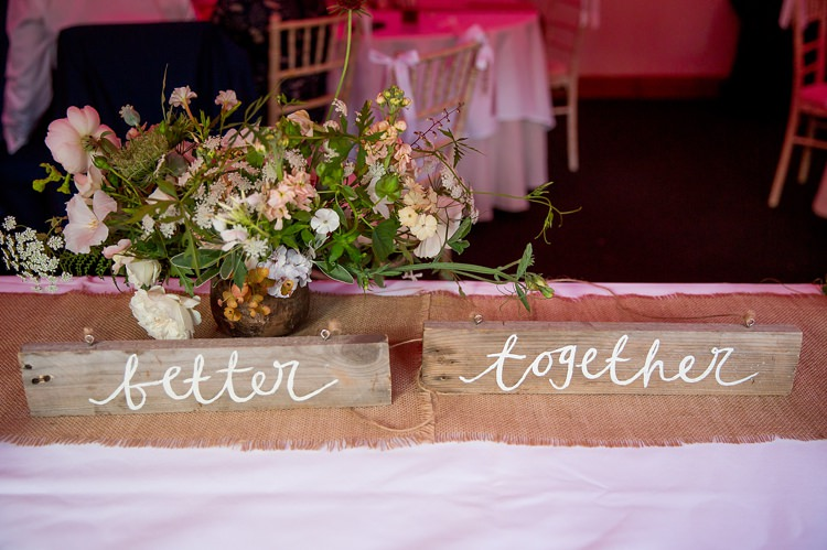 Rustic Wooden Sign Better Together Romantic Summer Country Blush Wedding http://katherineashdown.co.uk/