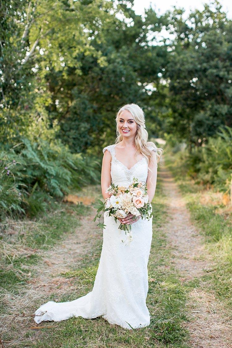 Maggie Sottero Lace Dress Straps Gown Bride Bridal Romantic Summer Country Blush Wedding http://katherineashdown.co.uk/
