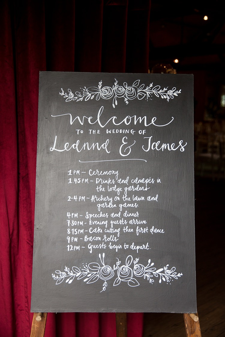 Black Board Chalk Sign Calligraphy Lettering Romantic Summer Country Blush Wedding http://katherineashdown.co.uk/