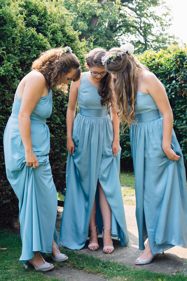 Long Bridesmaid Dresses Seaside Country Farm Pale Blue Marquee Wedding http://loveandadventures.co.uk/