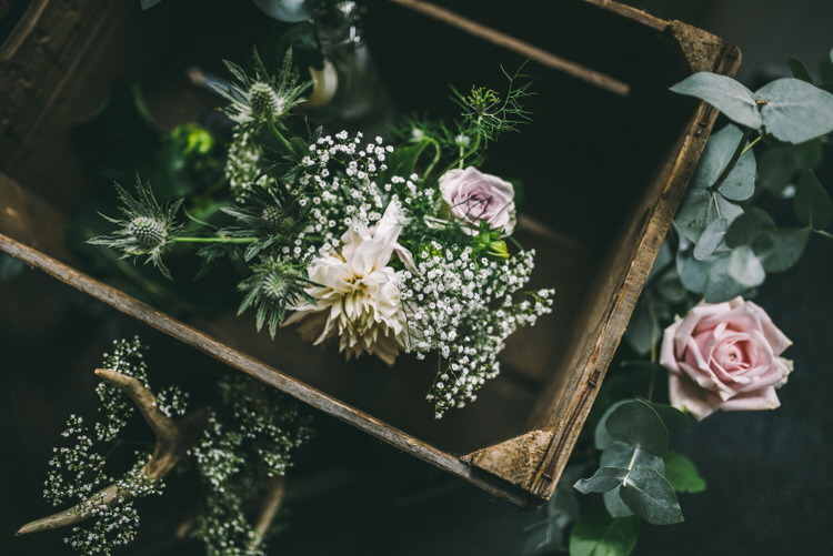 Crate Flowers Blooms Decor Magical Bohemian Barn Wedding http://www.jamespowellphotography.co.uk/